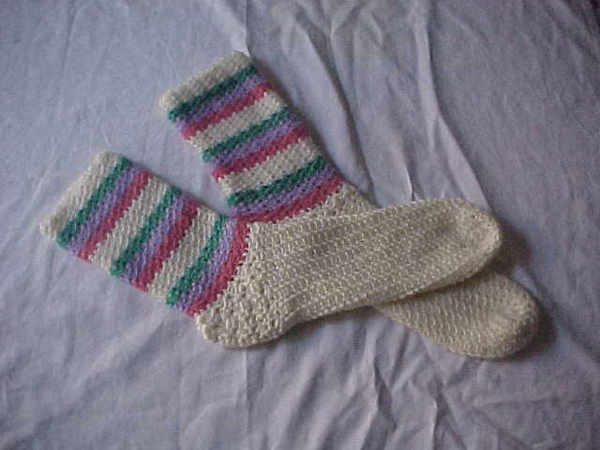 Como hacer calcetines de crochet - Imagui