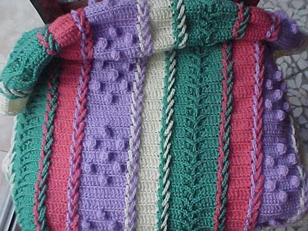 Mantas beb al crochet imagui - Mantas a crochet ...