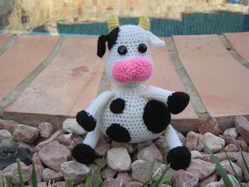 Amigurumi Vaca : Vaca esdovi el señor de los ovillos