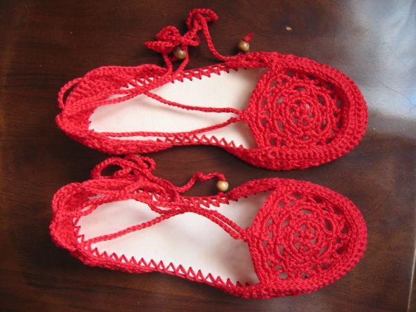 Huarache tejido a crochet para niña - Tutorial - YouTube