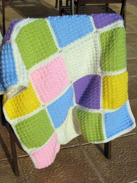 Mantas beb baby afghan el se or de los for Mantas de lana hechas a mano